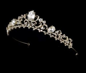 Fabulous Rhinestone Gold Plated Bridal Tiara!