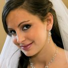 Crystal and Pearl Floral Wedding Bridal Jewelry Set !