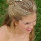VINTAGE STYLE SILVER CRYSTAL & PEARL BRIDAL Wedding  HAIR COMB