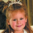 ADORABLE CHILD'S FLOWER GIRL SILVER FLORAL TIARA