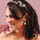DRAMATIC BLACK & CLEAR CRYSTAL BRIDAL TIARA HEADBAND!