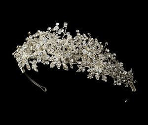"Couture 2"" Regal Floral Rhinestone Bridal Wedding Tiara!"
