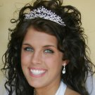 Crystal Silver Heart Bridal or Quinceanera Tiara
