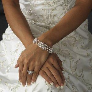 Enchanting Silver Plated Floral Bridal Wedding or Prom Bracelet