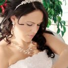 FRESHWATER PEARL BRIDAL TIARA and WEDDING JEWELRY SET