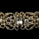 Gold Plated Rhinestone Bridal Wedding Bracelet