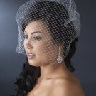 Birdcage Wedding Veil with Scattered Rhinestones