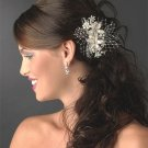 Rum Pink and Ivory Floral Bridal Hair Comb