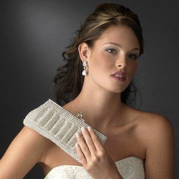 Dazzling Rhinestone Mesh Evening Bag Bridal Clutch Purse
