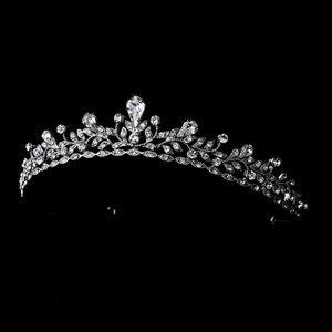 Silver  Plated Princess Rhinestone Wedding Prom Bridal Tiara