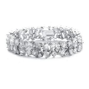 Bedazzling Mariell Cubic Zirconia CZ Wedding, Pageant  and Prom Bracelet