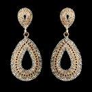 Rose Gold Rhinestone Wedding, Prom, Pageant Bridal or Bridesmaid Earrings