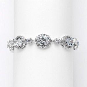 Stunning Mariell CZ Wedding, Prom, Pageant Bracelet 3610B