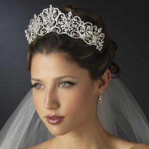 """Stunning 2 1/2"""" Royal Wedding Inspired Diamante Bridal Tiara"""