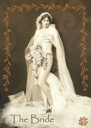 ACEO Art Card The Bride HennaToo Girls Vintage Nude