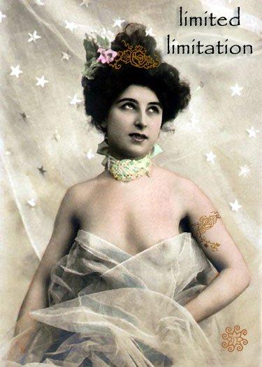 ACEO Limited Limitation Card HennaToo Girl Vintage Nude
