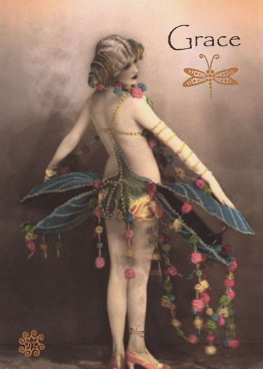 ACEO Grace Card HennaToo Girl Vintage Nude