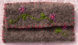Embroidered Eyeglass Case
