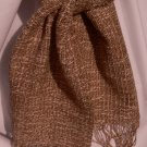 Scarf: brown / cream, cotton