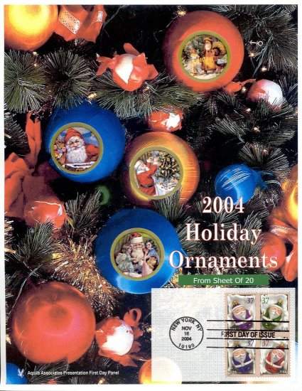 Holiday Ornaments First Day Panel From Aquila