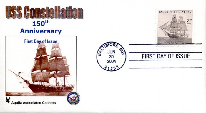 2004 U.S.S. Constellation FDC Aquila Cachet