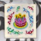 Sandylion set of birthday cake foil stickers Lot # S8