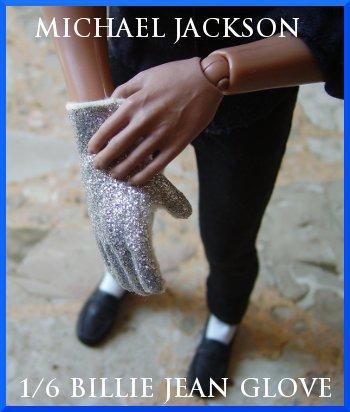 "Hot 1/6 Custom Michael Jackson Billie Jean RIGHT Glove Toys 12"" Figure - LAST PIECE !"