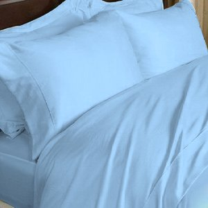1000 TC EGYPTIAN COTTON SKY BLUE QUEEN SOLID