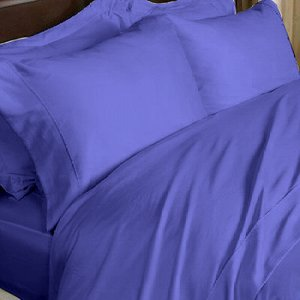 1000 TC EGYPTIAN COTTON SOLID NAVY BLUE SHEET SET