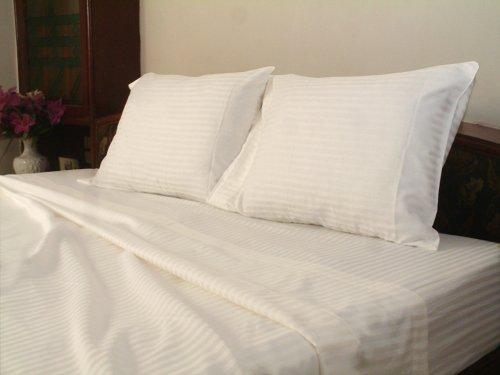1000 TC EGYPTIAN COTTON WHITE STRIPE SHEET SET
