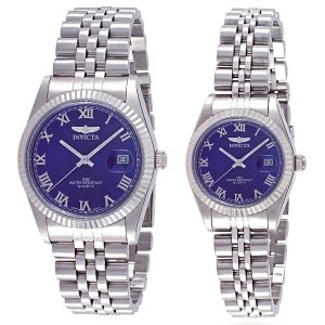 His And Hers Watch Sets >> Inv0037 Set Invicta Men S Women S Classic Quartz Watch Set His