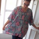 Landau womens nurse scrub top plus size 5XL