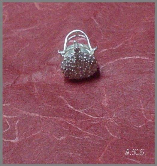 Silver 925 Bag Locket Pendant with Swarovski Mini-Stones