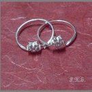 Silver 925 Flower Puzzle Ring with Swarovski Mini-Stones
