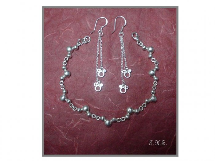 Silver 925 Mickey Mouse Set