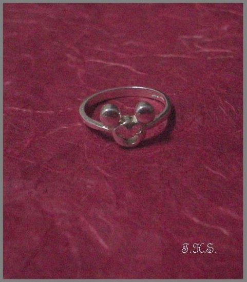 Silver 925 Mickey Mouse Ring