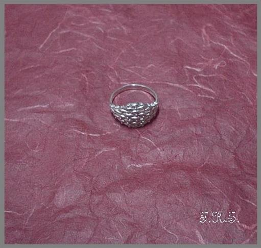 Silver 925 Crisscross Ring