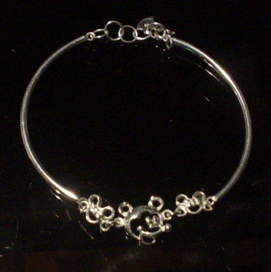 Silver 925 Mickey Mouse Bangle Bracelet
