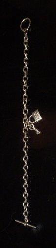 Silver 925 Lock & Key Bracelet