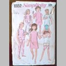 VINTAGE SEWING PATTERN~Girls' Pants & Dress/Top~size 12~Simplicity #6952 (1966)