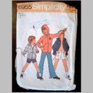 VINTAGE SEWING PATTERN~Boys' Jacket & Pants/Shorts~size 6~Simplicity #6955 (1975)