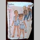 VINTAGE SEWING PATTERN~Girls' & Boys' Shirts & Pants/Shorts~size 5~Simplicity #5984 (1965)