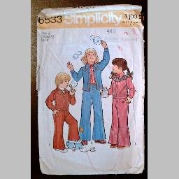 VINTAGE SEWING PATTERN~Child's Jacket & Bell-bottomed Pants~size 5~Simplicity #6533 (1974)