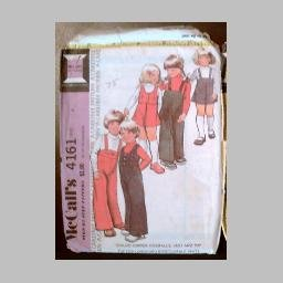 VINTAGE SEWING PATTERN~Child's Jumper/Overalls/Vest/Top~size 4~McCall