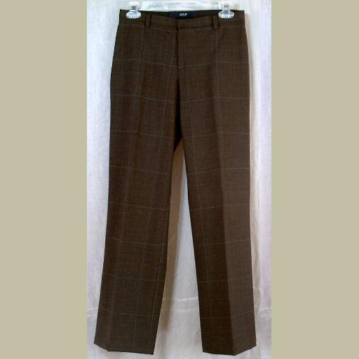 Taupe Plaid WOOL SLACKS/Trousers/Pants~by GAP~size 2