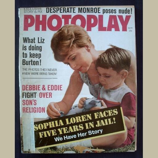 PHOTOPLAY~1962~v62/#3~VINTAGE CELEBRITY MAGAZINE~DEBBIE REYNOLDS~Marilyn Monroe PICS~Ann-Margret++