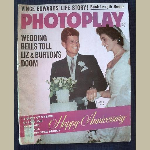 PHOTOPLAY~1962~v62/#5~VINTAGE CELEBRITY MAGAZINE~JFK & JACKIE~Marilyn~Elvis~Liz T~Paul Newman++