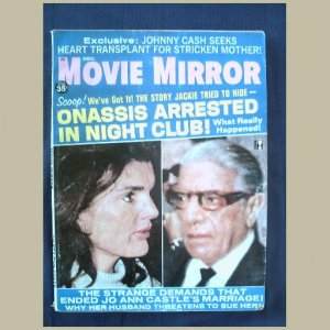 MOVIE MIRROR~1970~v15/#2~VINTAGE CELEBRITY MAGAZINE~JACKIE~Johnny Cash~Liz ~Raquel Welch~Mia Farrow+