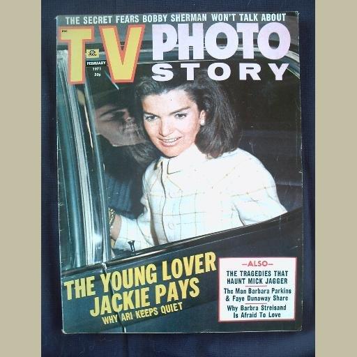 TV PHOTO STORY~1971~v4/#1~VINTAGE CELEBRITY MAGAZINE~JACKIE~Jagger~Streisand~Vincent Price~Raquel++
