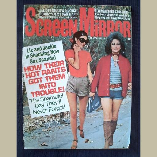 SCREEN MIRROR~1971~v72/#3~VINTAGE CELEBRITY MAGAZINE~JACKIE~LIZ~Jane Fonda~Doris Day~Marlo Thomas++